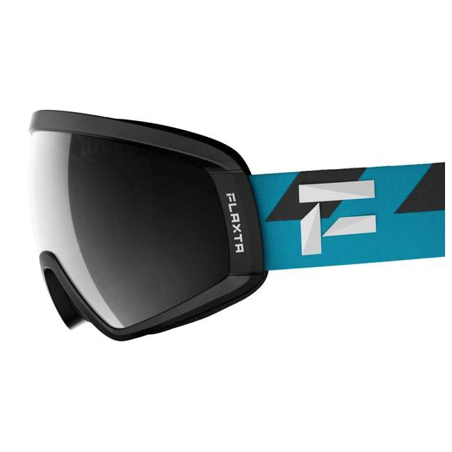 FX801001031ONE Flaxta Continuous Peripheral Vision Snowboard and Ski Goggles, Teal and Black 1