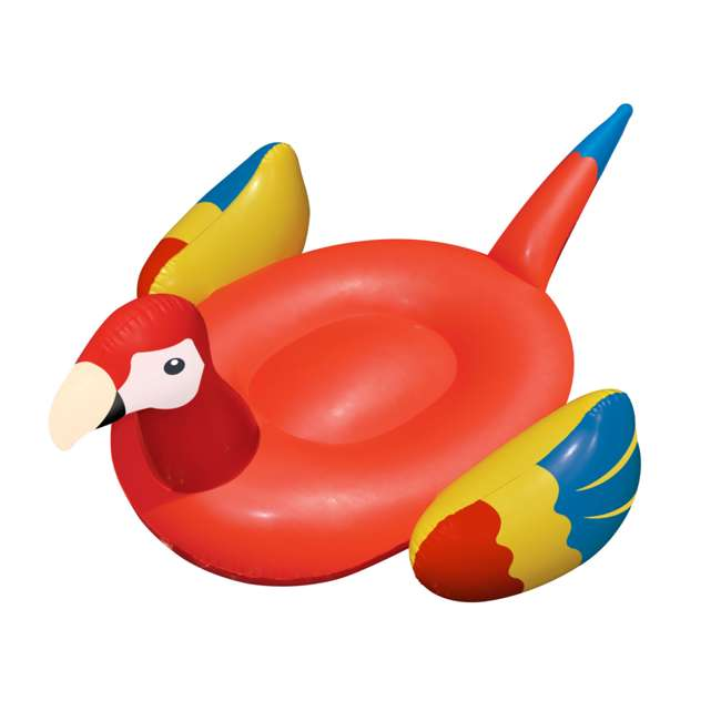 90629-U-A Swimline Giant Ride-On Tropical Parrot Inflatable Pool Float, Pink (Open Box)
