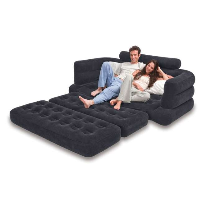 68566EP-U-B INTEX Inflatable Pull-Out Sofa & Queen Bed Mattress Sleeper (Used) (2 Pack) 2