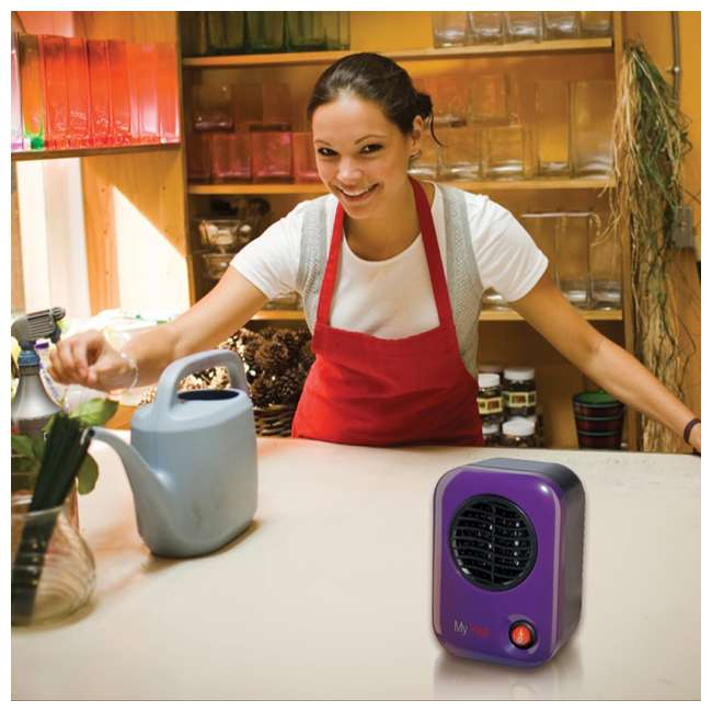 LKO-106-TN Lasko 106 MyHeat Portable Personal Electric 200W Ceramic Space Heater, Purple 1