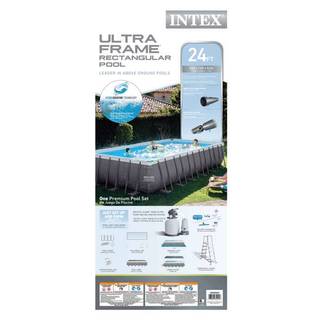 28365EH Intex 24 x 12 x 4.3 Foot Ultra Frame Pool Set with Cleaning Kit 6