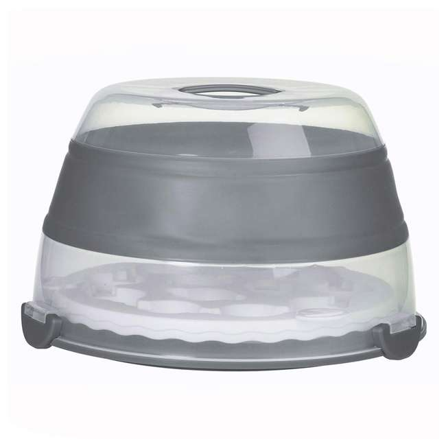 BCC-1GY Progressive International Prepworks Collapsible Cupcake Carrier, Gray