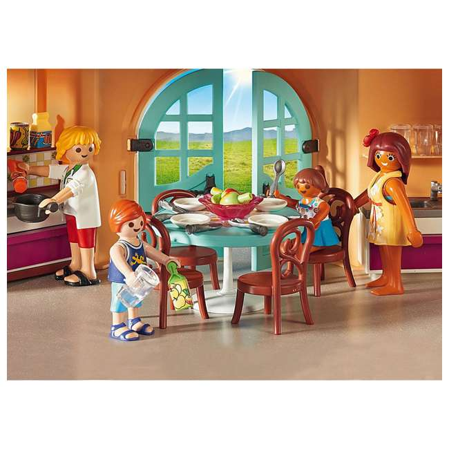 9420 Playmobil 9420 Summer Villa Interactive Doll House & Figures Play Set, Ages 4+ 3
