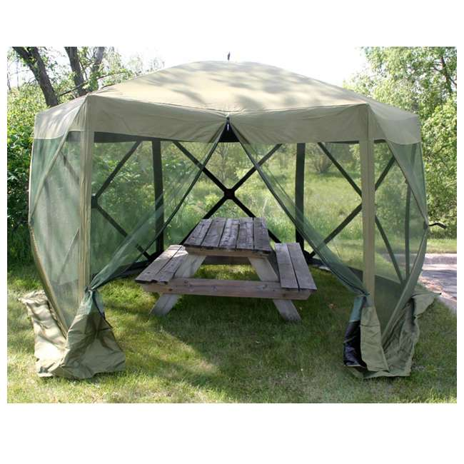 CLAM-ES-9281 + CLAM-WP-2PK-9896 Clam Quick Set Canopy Shelter + Wind & Sun Panels (2 pack) 5