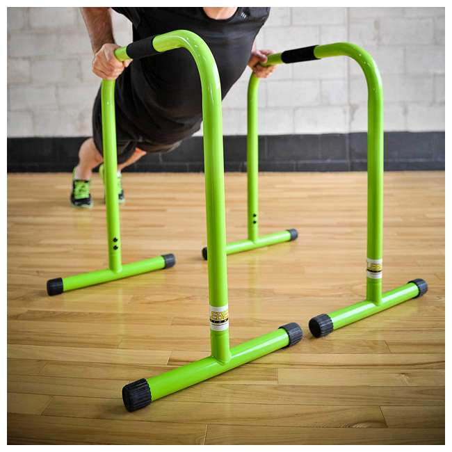 LFI-EQ-LIME Lebert Fitness Total Bodyweight Strengthener Stainless Steel Equalizer, Lime 1