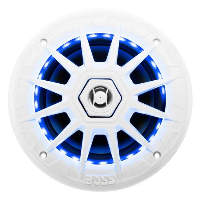 MRGB65 Boss Audio Marine 200W MRGB65 6.5 Inch Boat Light White Speakers Pair (Pair) 5