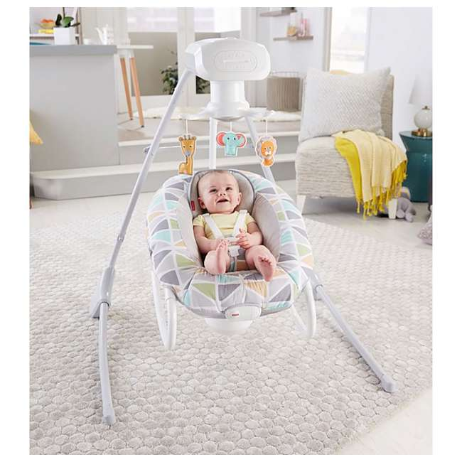 FHW45 Fisher Price 2 In 1 Deluxe Baby Cradle N Swing Rocking Seat Rocker Chair Bouncer 4