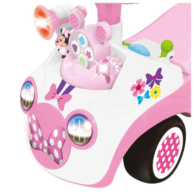 048280 Kiddieland Minnie Mouse Activity Gears Ride-On Car, Pink 1
