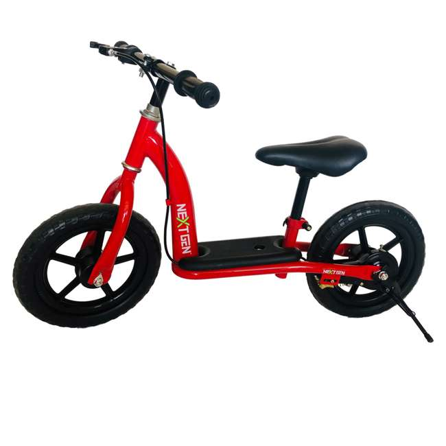 12BALBK-R NextGen 12 Inch Childrens Toddlers Kids Balance Bike Bicycle with Kickstand, Red