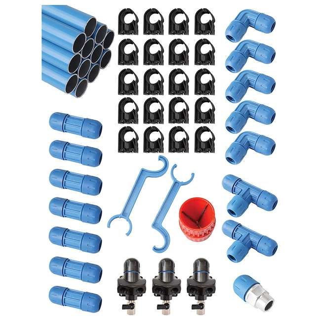 F28070 Rapid Air F28070 3/4 In Fastpipe 90 Ft Compressed Air Piping System Master Kit
