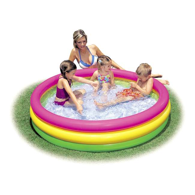 57422EP Intex Inflatable Sunset Glow Colorful Backyard Kids Play Pool 57422EP (Open Box) 1