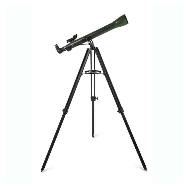 22105 Celestron ExploraScope 60AZ 60x 700mm Telescope, Green (Open Box)