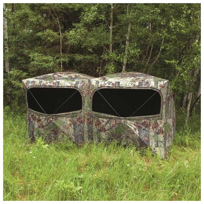 BARR-BE650BW Barronett Blinds BE650BW Big Beast Backwoods Double Wide Hub Hunting Blind, Camo 2