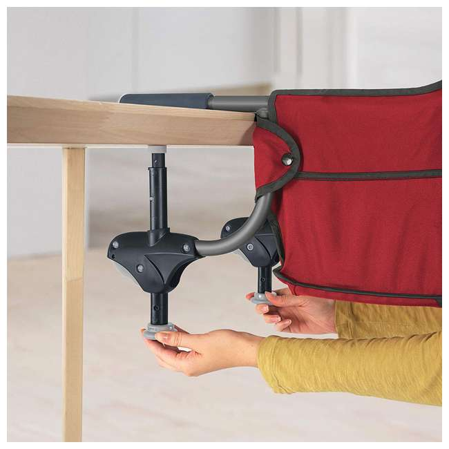 CHI-0407913670 Chicco Portable Folding Travel Baby Feeding Hook On Table High Chair Seat, Red 1