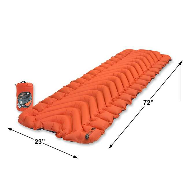 06IVOR01C Klymit Insulated Static V Sleeping Pad, Orange 1