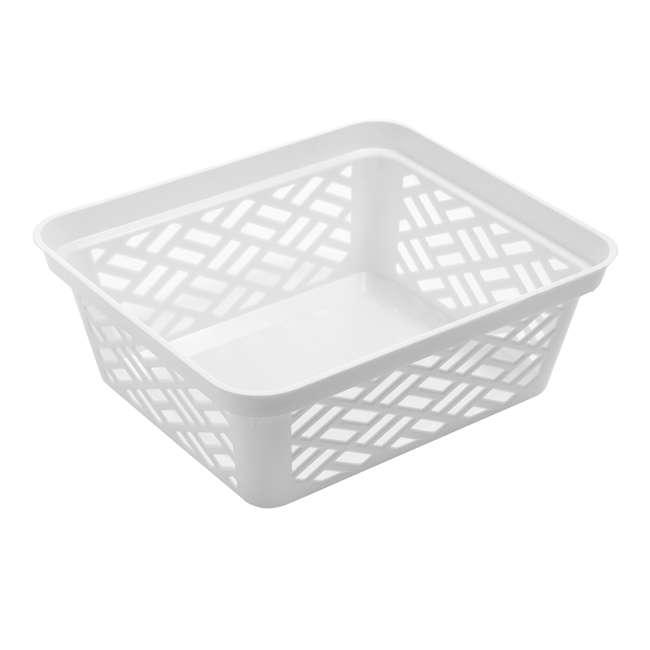 FBA32134 Ezy 32134 Medium Brickor Plastic Storage Household Organization Basket, White