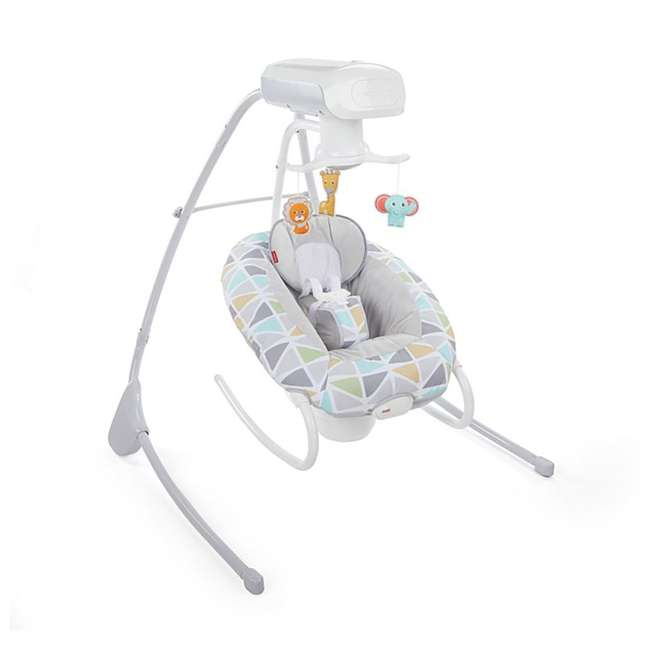 FHW45 Fisher Price 2 In 1 Deluxe Baby Cradle N Swing Rocking Seat Rocker Chair Bouncer 2
