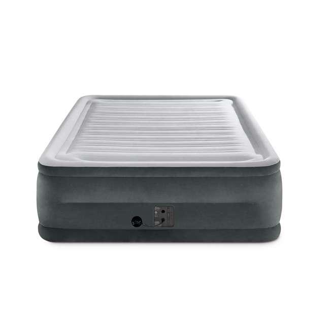 3 x 64417EP-U-A Intex Plush High Rise Dura Beam Airbed w/ Built-In Pump, Queen(Open Box)(3 Pack) 2