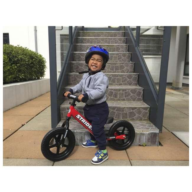 ST-S4RD Strider 12 inch Sport Toddler Training Adjustable Balance Bike, Red (2 Pack) 7