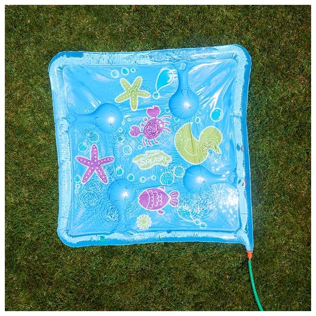 WMO-61850 Wham-O Backyard Sea Creature Printed Children's Splash Pad with Inflatable Rim 2