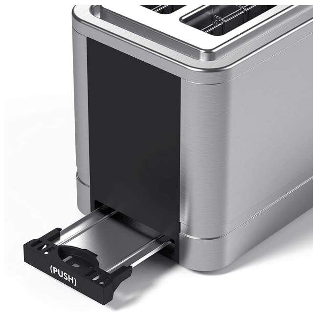 VRM010011N Vremi VRM010011N Retro Stainless Steel Countertop Wide Slot 2 Slice Toaster 4