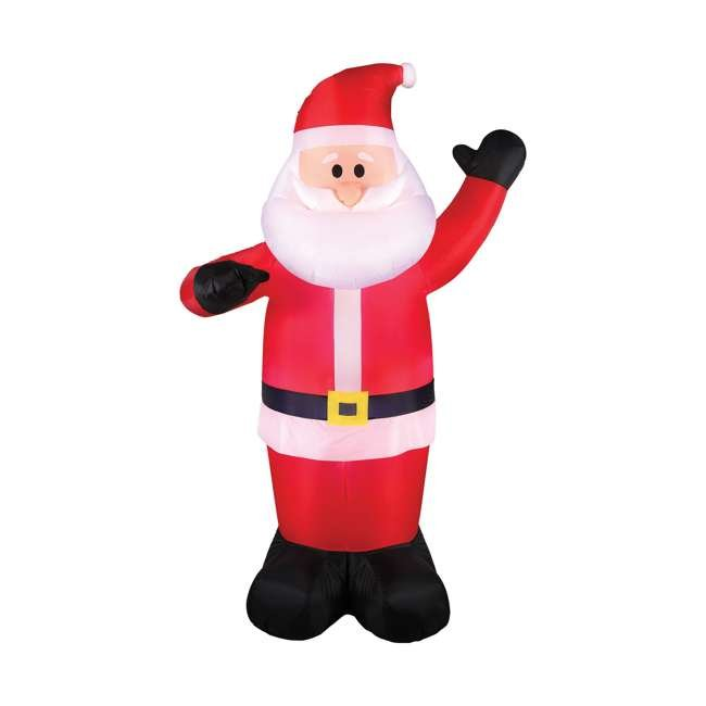 BAN-94447 Airflowz 5 Foot Life Size Inflatable Santa Claus Decor with Built In LED Lights