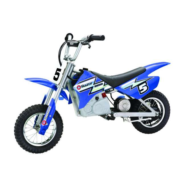15128040 + 97775 + 96785 Razor Dirt Rocket MX350 Electric Moto Bike with Helmet, Elbow & Knee Pads 3