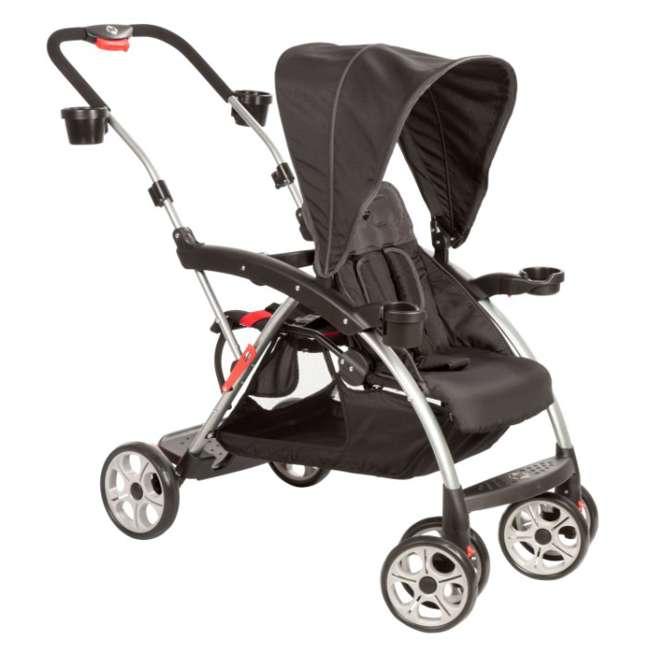 CV249BKJ Safety 1st Stand OnBoard Double Baby Stroller - Classic Black   CV249BKJ 1