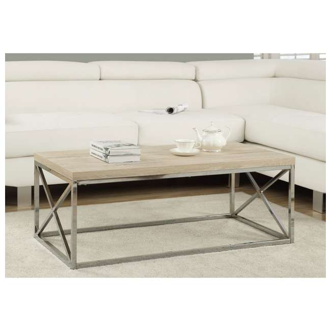 VM-3208 Monarch Natural Wood-Look Contemporary Coffee Table