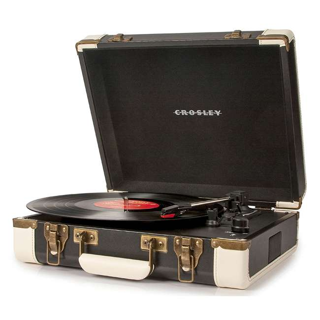 CR6019A-BK Crosley Executive USB Portable Turntable, Black