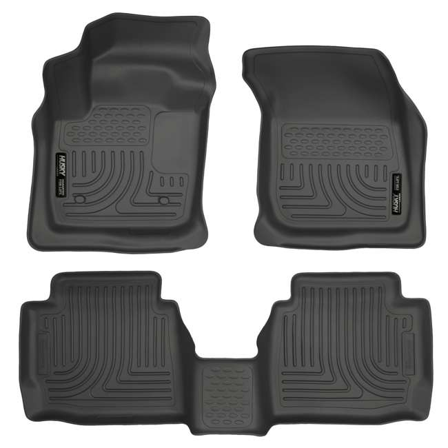 HUSKY-99751-OB Husky Liner Weatherbeater Front & Second Floor Liner for Ford Fusion or Lincoln MKZ