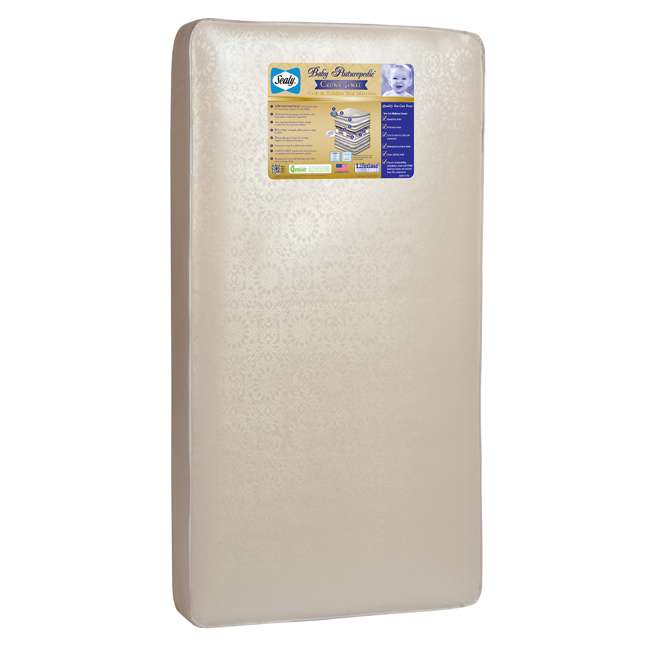 04565-50F + EM642-PHN1 Thomasville Kids Willow Crib, Pebble Gray & Sealy Posturepedic Mattress  2