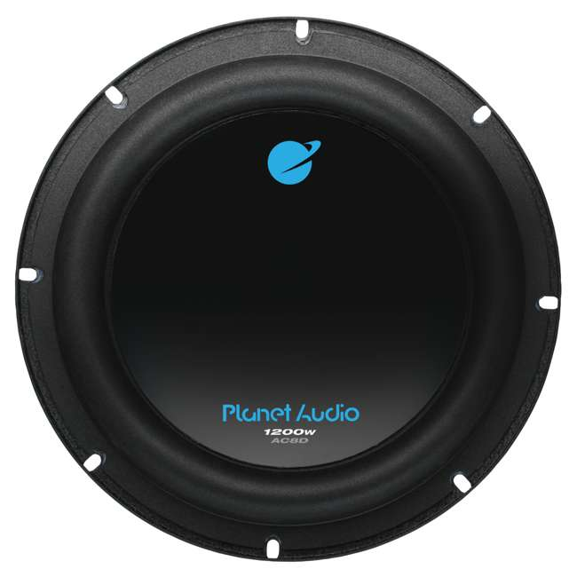 AC8D + AC26002 Planet Audio AC8D 8-Inch 2400W Subwoofers + 2600W Amplifier (Package) 2