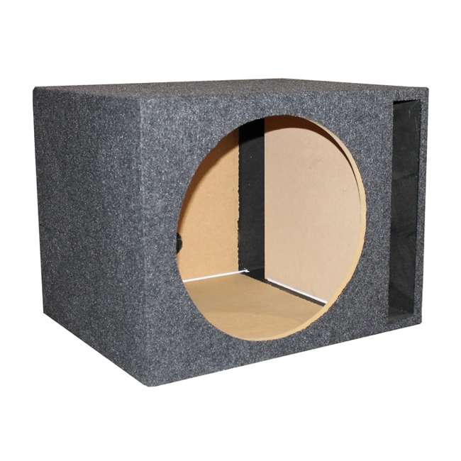 "QSBASS15-VENTED NEW Q-Power 15"" Single Empty Vented Ported Car Audio Subwoofer Sub Box Enclosure"
