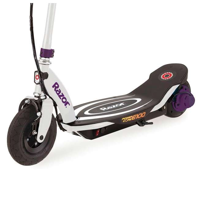 13111211 + 2 x 13111210 Razor Power Core E100 Kids Electric Battery Power Scooter, Purple/Blue (3 Pack) 5