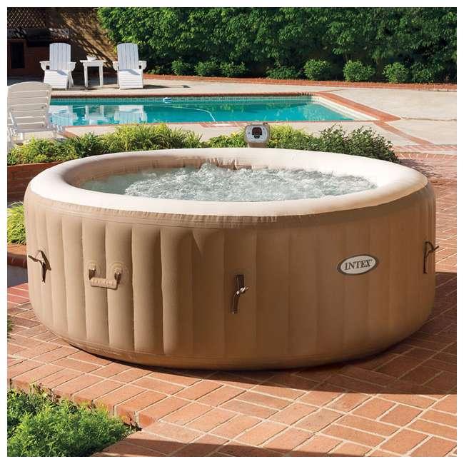 28403E + 28501E + 28523E Intex PureSpa 77 Inch 4 Person Inflatable Hot Tub Spa with Headrest & Cover 4