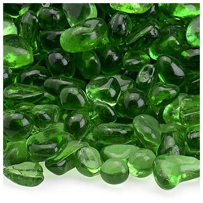 ECO-GRE-10 American Fireglass 1/4-Inch Fireplace and Fire Pit Eco Beads, 10LB, Jade Green 3