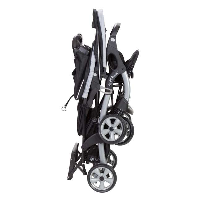 SS76B51A + 2 x CS79B51A Baby Trend Sit N Stand Tandem Stroller + Car Seats (2) Travel System, Stormy 5