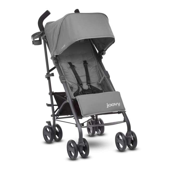 JVY-8129 Joovy Groove Ultralight Compact Canopy Umbrella Stroller, Charcoal