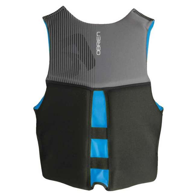 4 x 2171797-MW OBrien BioLite Men's Flex V Back Neoprene Life Vest Size XL, Black/Blue (4 Pack) 2