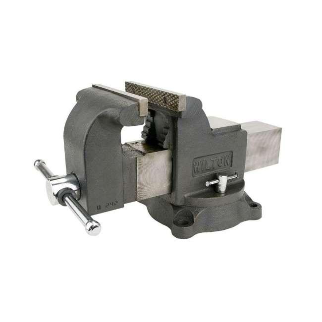 WIL-63302 + WIL-20816 Wilton WS6 6 In Bench Vise w/ 8 Pound Sledge Hammer 3