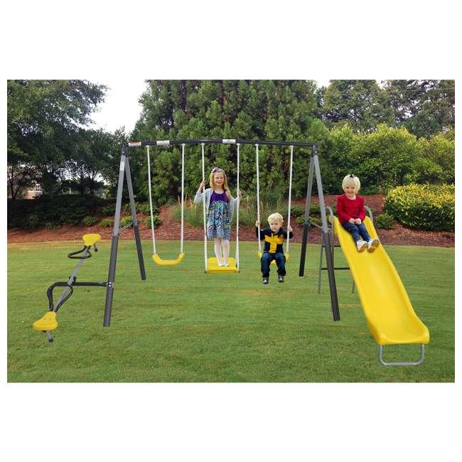 XDP-74560 XDP Recreation Swingin' Again Kids Swing Set with Slide 3