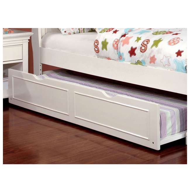 IDF-7943WH-TR-U-A Furniture of America Transitional Child Wood Trundle Only, White (Open Box) 4