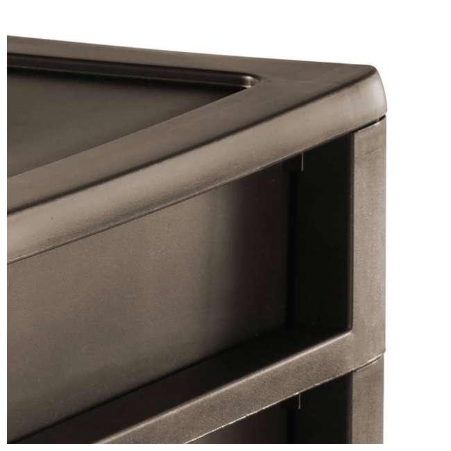 8 x 23436P04-U-A Sterilite Medium Weave Craft 3 Drawer Storage Organizer, Brown(Open Box)(8 Pack) 4
