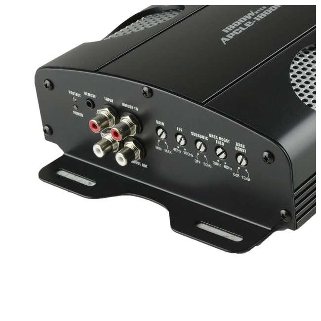 4 x APCLE-18001D Audiopipe APCLE-18001D 1800-Watt 1-Ohm Mono Amp (4 Pack) 2