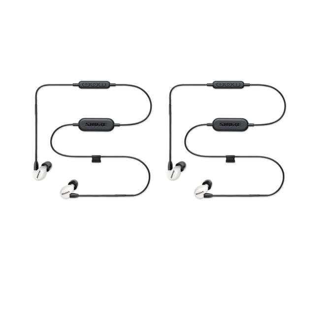 SE215SPE-W-BT1 Shure Sound Isolating MicroDriver BT Earphones, White (2 Pack)