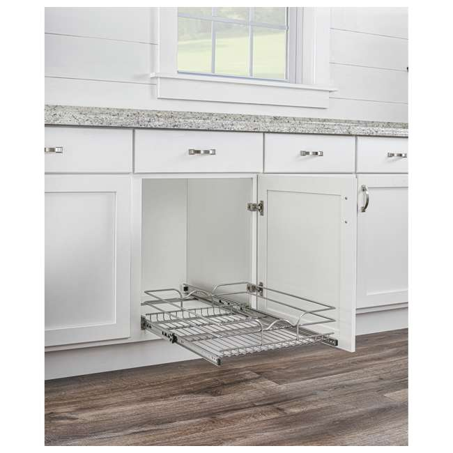 """5WB1-1520CR-1 Rev-A-Shelf 5WB1-1520CR-1 15"""" x 20"""" Single Kitchen Cabinet Pull Out Wire Basket 2"""