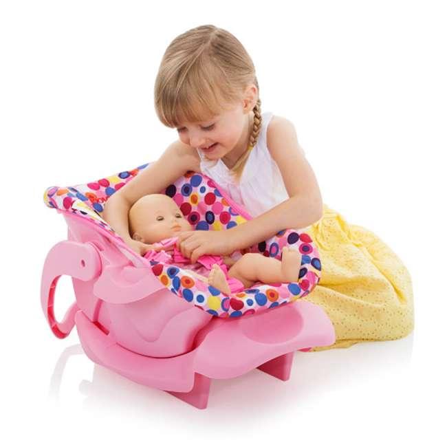 JVY-002 Joovy Toy Doll Pretend Play Children Car Seat, Pink Dot 2
