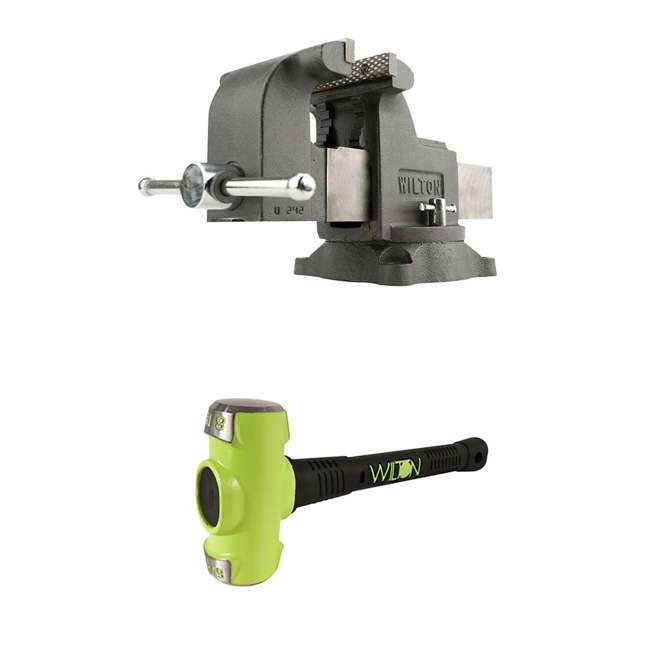 JPW-63304 + WIL-20816 Wilton WS8 8 Inch Bench Vise w/ 8 Pound Sledge Hammer