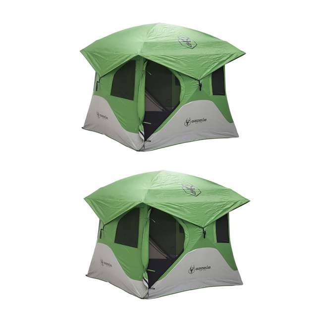 GAZL-33300 Gazelle Tents T3 Pop-Up Hub 3-Person Outdoor Camping Tent (2 Pack)